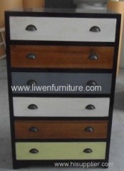 Antique reproduction chest 6 drawers