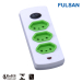 Germany Style Extension Socket Power Strip with with individual switch and Overload Protection