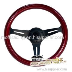 50mm Universal Racing Billet steering wheel red
