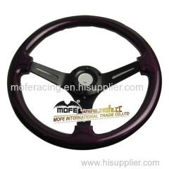 350mm purple Wood Steering Wheel