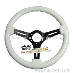 350mm white RACING wood Steering Wheel