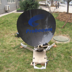 1.2m automatic flyaway satellite dish antenna