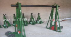 Cable Drum Jacks supporting of reel cable pay-off stand