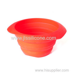 silicone collapsible salad bowl