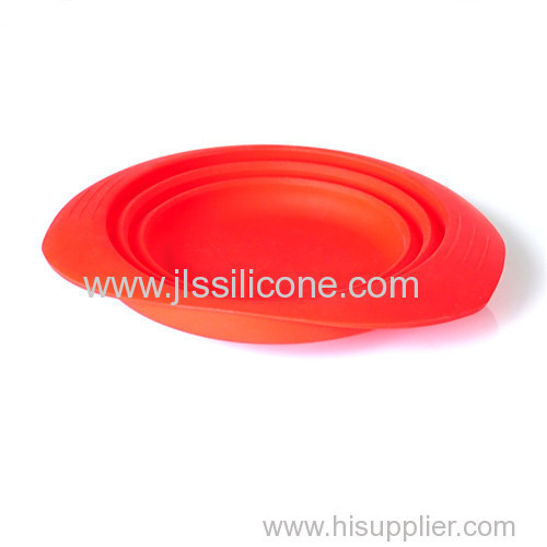 silicone folding salad bowl