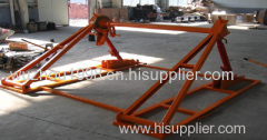 Made Of Steel Tripod Cable Drum Trestles Hydraulic Cable Jack Set