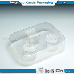 Plastic cosmetic cavity packaging tray
