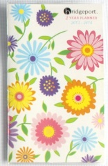 flowers pocket weekly planner book