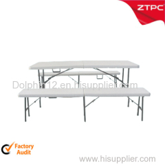 Plastic folding table (table face foldable ) ZTT-309A