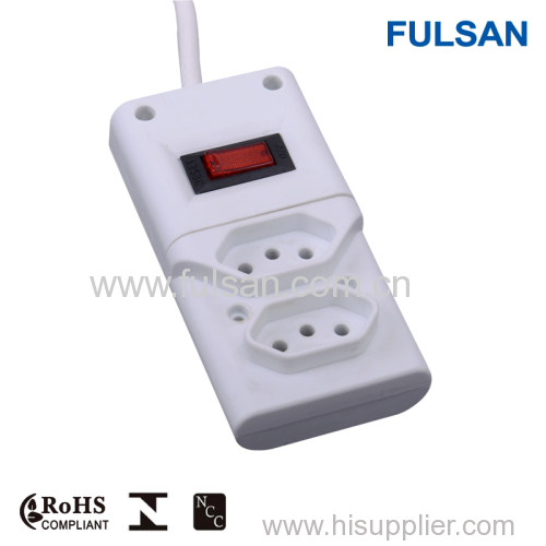 extension socket outlet/5 way electrical extension socket/color power strip