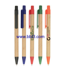 Eco-friendly promotion ballpoint pen with plastic clip