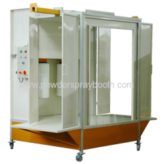 filter powder coating booth