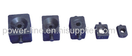Hexagon compression die sets for condutor and joints compressor