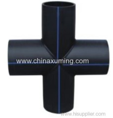 HDPE Heat Fusion Welding Four-way Pipe Fitting