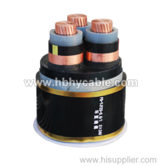 Copper Conductor XLPE / PVC Insulated Armoured Submarine Power Cable