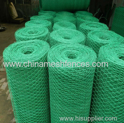 PVC coated hexagonal wire mesh PVC coated chicken wire mesh