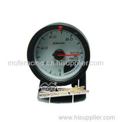 Digital 60 mm white face oil press gauge