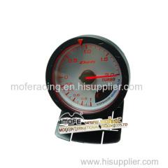Digital 60 mm white face turbo gauge