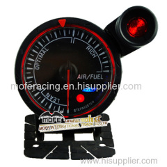60mm black face red lcd air fuel ratio with shift light