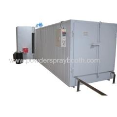 Oil powder coating oven