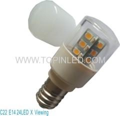 CE CB approval LED refrigerator bulb light lamp mini bulb 24LED