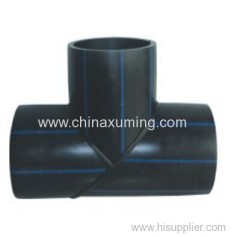 HDPE Heat Fusion Welding Equal Tee Pipe Fittings