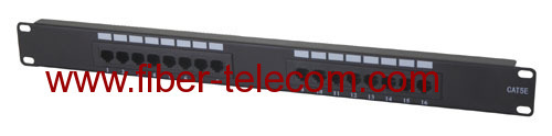 CAT.5e UTP Patch Panel 16 ports