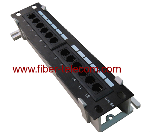 CAT.5e UTP Wall Mounted Patch Panel 12 ports