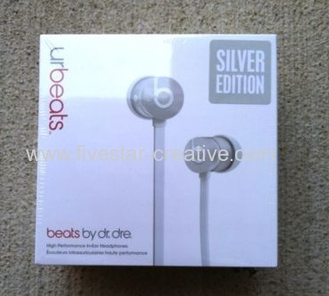 Beats by Dr.Dre Limited Edition Silver urBeats In Ear Headphones Earbuds with Built-in Mic