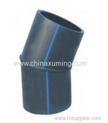 HDPE Fabrocated 22.5° Elbow Pipe Fittings