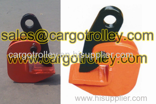 Steel plate lifting clamps application