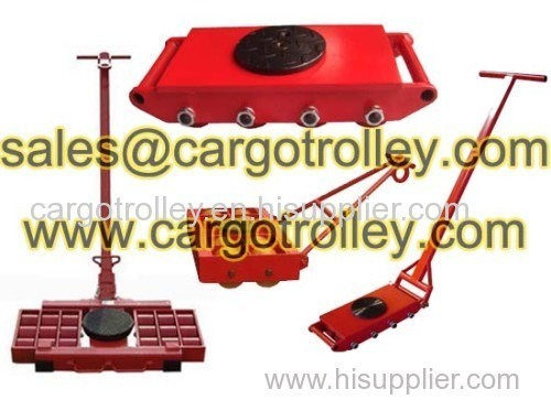 Machinery movers application and pictures