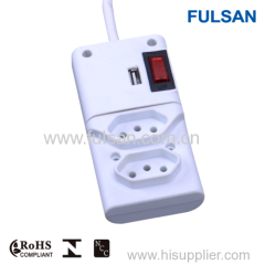 Surge Protector can be LAN/Tel/Dss Coax/TV/USB power strip with socket