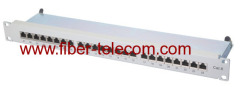 high-impact plastic network patch panel