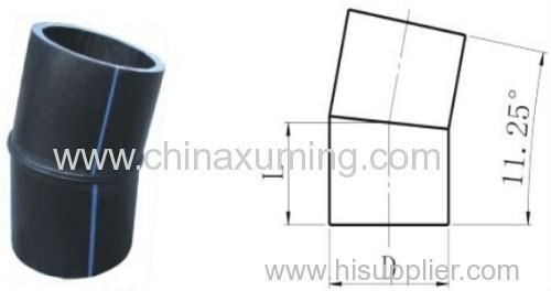 HDPE Butt Welding 11.5 Degree Bends Fittings