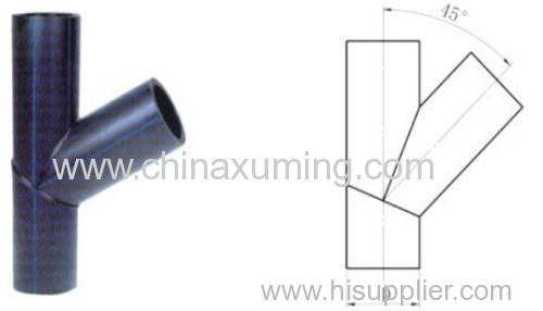 HDPE Butt Welding 45 Degree Skew Tee Fittings