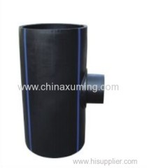 HDPE Fabrocated Saddle Reducing Tee Pipe Fittings