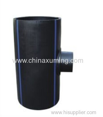 HDPE Fabrocated Saddle Reducing Tee Pipe Fittings from China