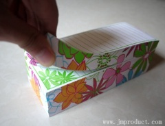 printed container memo pad