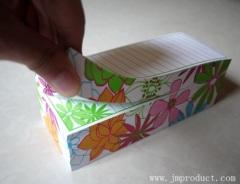 printed container memo pad