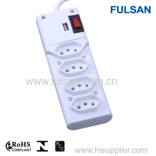 USB charger extension socket/USB power strip/USB extension cable