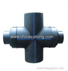 HDPE Fabrocated Equal Cross Being Reduced Pipe Fitting