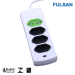 2.1A USB Universal Power Strip with 2 USB Ports