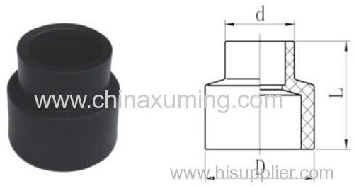 HDPE Socket Fusion Reducing Coupling Pipe Fittings