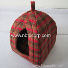 Classical red tartan design cat pet foldable fabric/foldable house