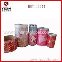 Heat transfer plastic film