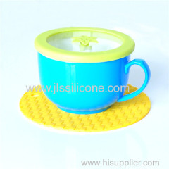 Round shape Silicone bowl heat resistant Mat