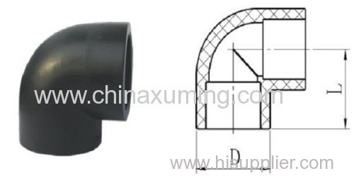 HDPE Socket Fusion 90 Degree Elbow Pipe Fittings