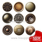 antique brass prong snap button