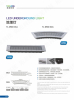 36W Fan shape LED underground light IP67 RGB outdoor light